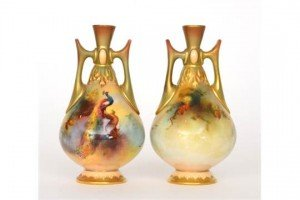 twin handled vases