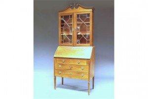 nlaid bureau bookcase