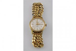 gold plated wristwatch