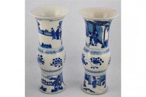 Chinese Gu vases