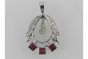 ruby set pendant