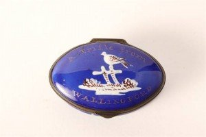 blue enamel patch box