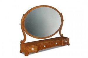 satinwood dressing table mirror