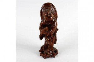 carved rootwood figure
