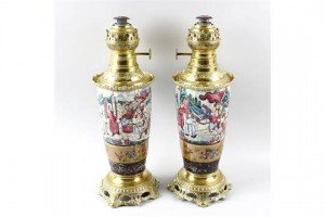 crackle ware paraffin lamps