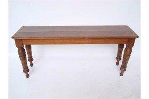mahogany hall bench