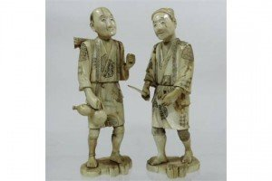 carved ivory figures