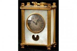 miniature desk clock