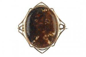 hardstone brooch