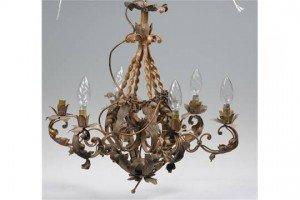 six branch chandelier