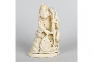 Meiji period ivory okimono