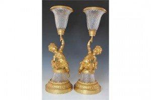 figural vases,