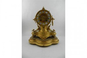 spelter mantle clock
