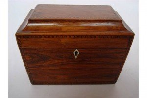 sarcophagus form tea caddy