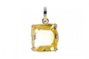 single-stone pendant