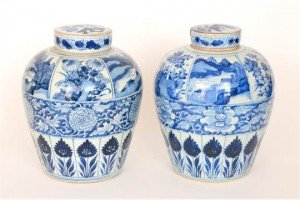 Chinese export ware ginger jars