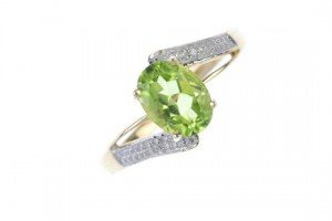 peridot dress ring.