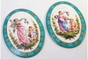 porcelain plaques