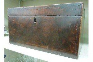 mahogany tea casket