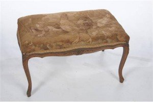 tapestry dressing stool
