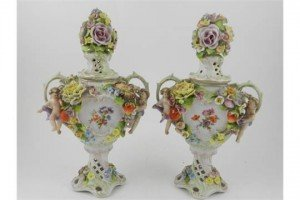 twin handled urns
