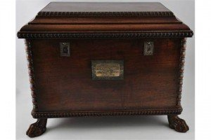 mahogany deed box