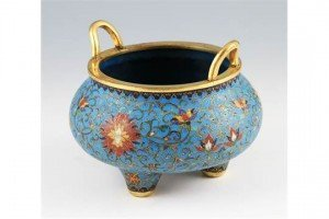 gilt bronze censer bowl