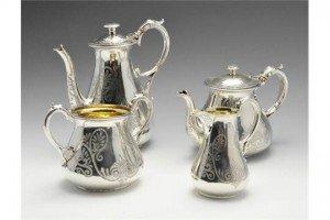 four piece tea service