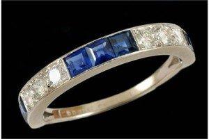 half circle eternity ring,