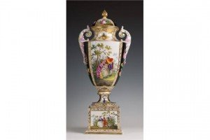 Vienna covered vase