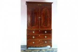 mahogany linen press