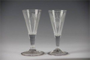 Victorian ale glasses