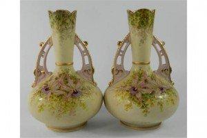 Staffordshire type vases