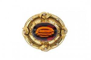 split pearl brooch