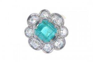 floral cluster ring