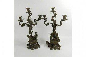 three branch candelabra