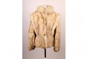rabbit fur ladies jacket