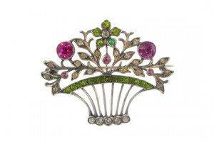paste floral brooch