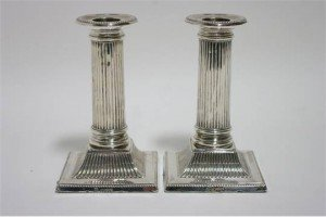 Victorian desk candlesticks