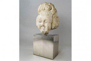 stone janiform head