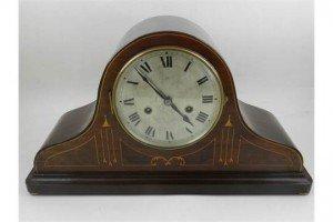 mahogany mantel clock
