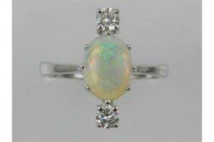 opal set ring