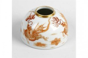 porcelain brush pot