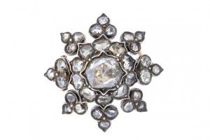 diamond memorial brooch