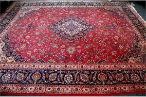 Kashan large woollen carpet