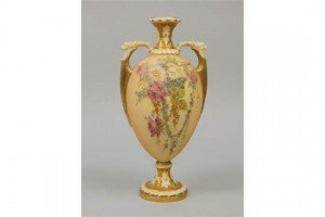 blush ivory ground vase