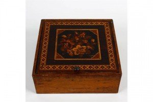 Tunbridgeware table box
