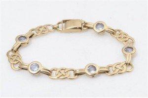 blue topaz set bracelet