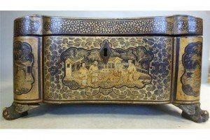 chinoiserie tea casket