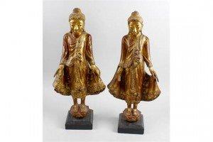 gilded wood figures